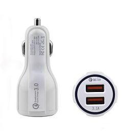CARGADOR USB PARA AUTO 2 PUERTOS 3.1A