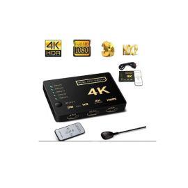 SWITCH HDMI 5 PUERTOS 4K X 1 SALIDA C/ CONTROL REMOTO MOD. SM-F7808