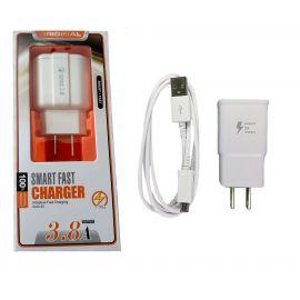CARGADOR USB CON CABLE MICRO USB 3.8A