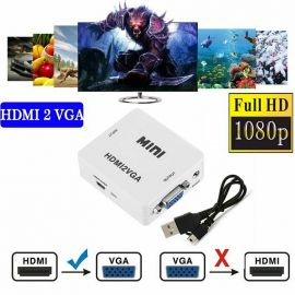 CONVERTIDOR DE VIDEO HD - HDMI A VGA CON AUDIO