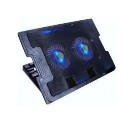 COOLER PARA LAPTOP METALIZADO -02 VENTILADORES - HASTA 17