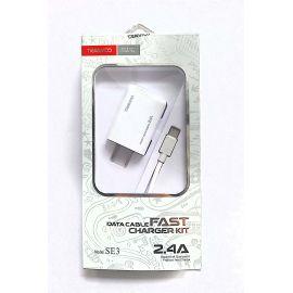 CARGADOR USB CON CABLE TIPO C  2.4A
