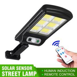 REFLECTOR SOLAR SENSOR DE MOVIMIENTO CON BRAZO Y CONTROL REMOTO 120 LEDS - M505