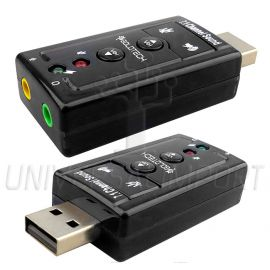 ADAPTADOR USB SONIDO 7.1  C/ REGULADOR DE VOLUMEN - GOLDTECH