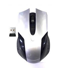MOUSE INALÁMBRICO USB - PLOMO