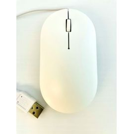 MOUSE USB CON CABLE - BLANCO