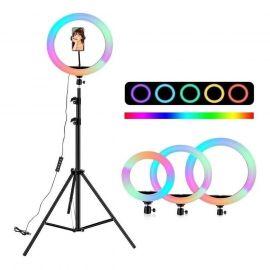 ARO LED TIK TOK 26 CM RGB COLORES + TRIPODE 2.10M